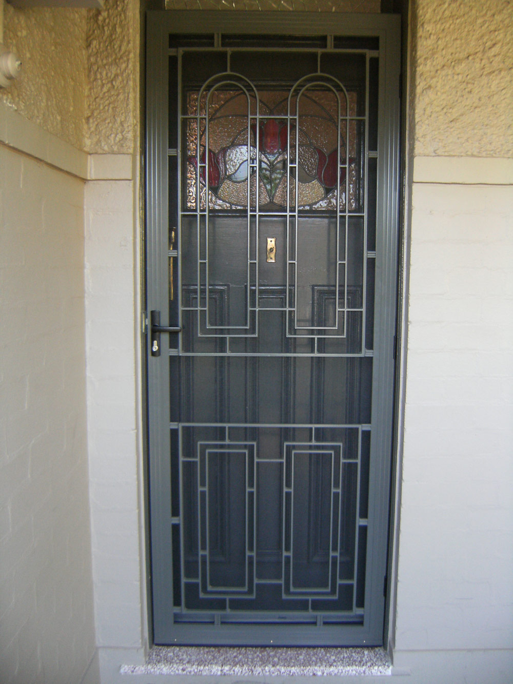 Screens screen doors prestige home solutions - White security screen door ...